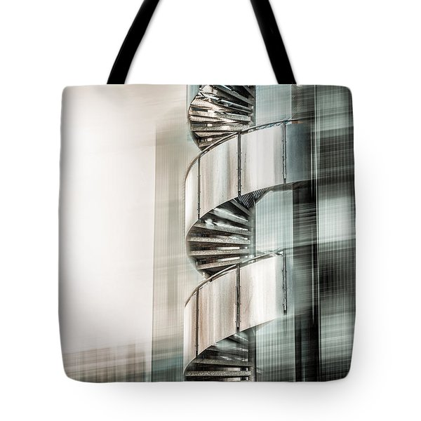 Urban Drill - Cyan Tote Bag by Hannes Cmarits