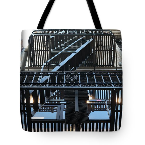 Urban Fabric - Fire Escape Stairs - 5D20592 Tote Bag by Wingsdomain Art and Photography