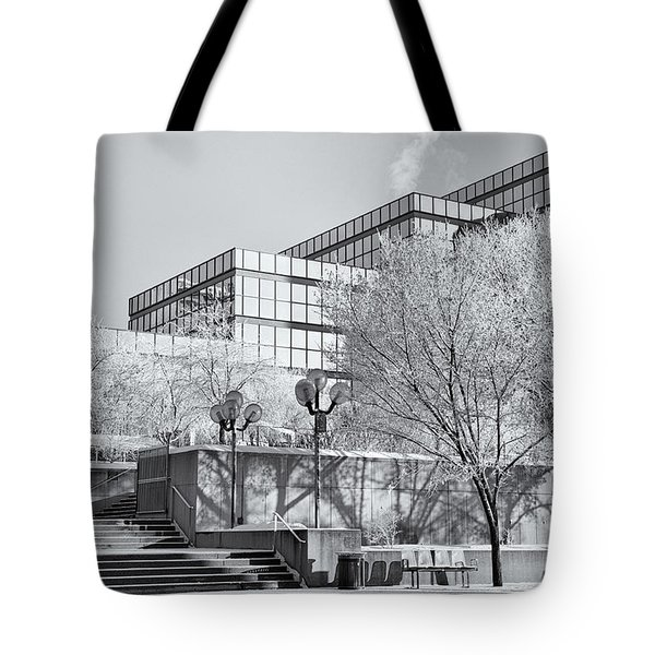 Urban Hoar Frost Tote Bag by Trever Miller
