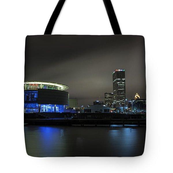 Urban Sapphire Tote Bag by CJ Schmit