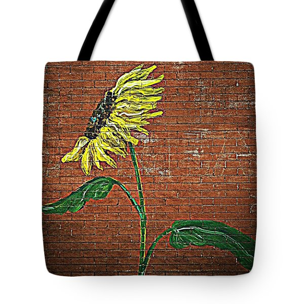 Urban Sunflower Tote Bag by Chris Berry