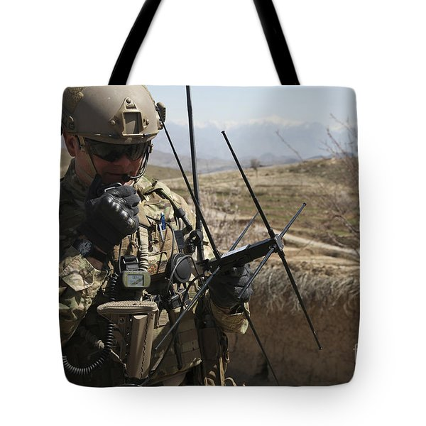 U.s. Air Force Joint Terminal Attack Tote Bag by Stocktrek Images
