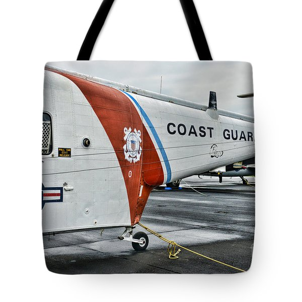 US Coast Guard Helicopter Tote Bag by Paul Ward