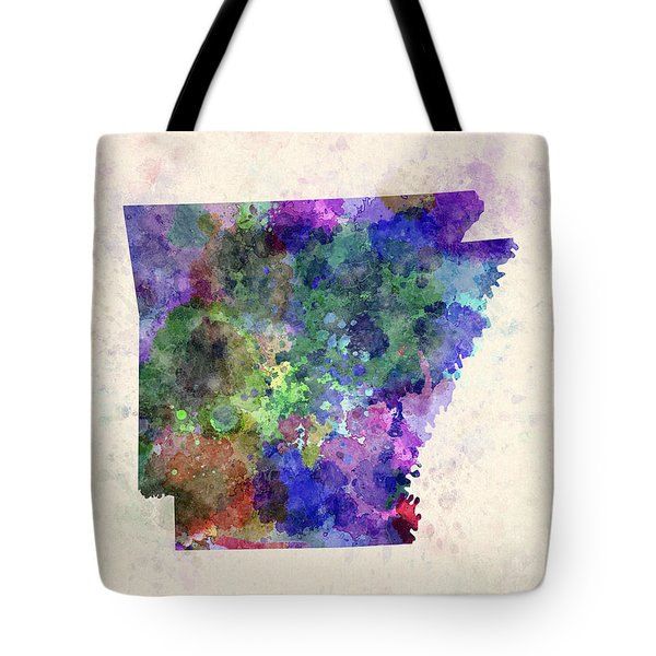 Us State In Watercolor Tote Bag by Pablo Romero