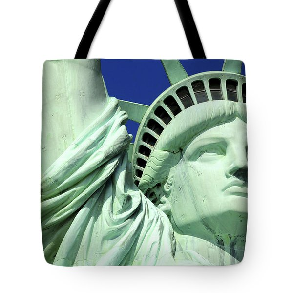 Usa, New York City, Statue Of Liberty � Tote Bag by Tips Images