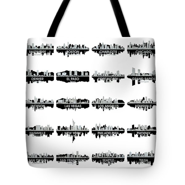 Usa Skylines 4 Tote Bag by Angelina Vick