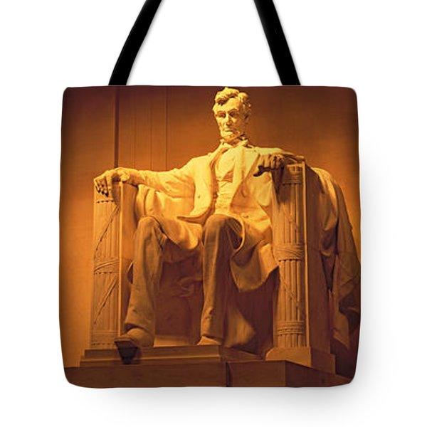Usa, Washington Dc, Lincoln Memorial Tote Bag by Panoramic Images