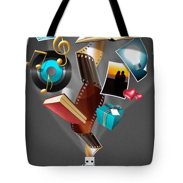 USB Drive Tote Bag by Carlos Caetano