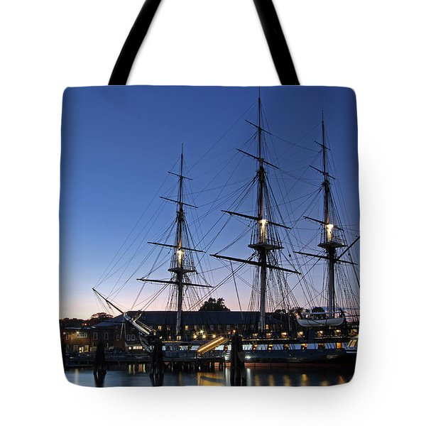 USS Constitution and Bunker Hill Monument Tote Bag by Juergen Roth