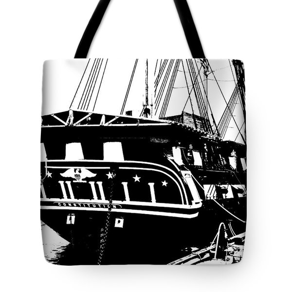Uss Constitution Tote Bag by Charlie and Norma Brock