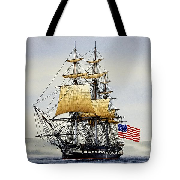 Uss Constitution Tote Bag by James Williamson