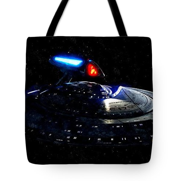 USS Enterprise Tote Bag by Florian Rodarte