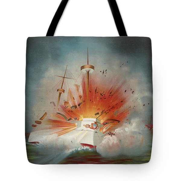 Uss Maine Circa 1898  Tote Bag by Aged Pixel