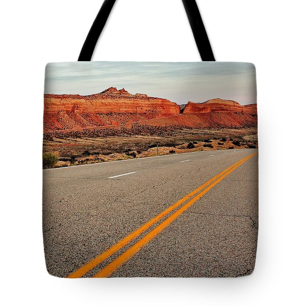 Utah Highway Tote Bag by Benjamin Yeager