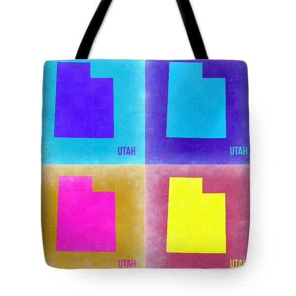 Utah Pop Art Map 2 Tote Bag by Naxart Studio