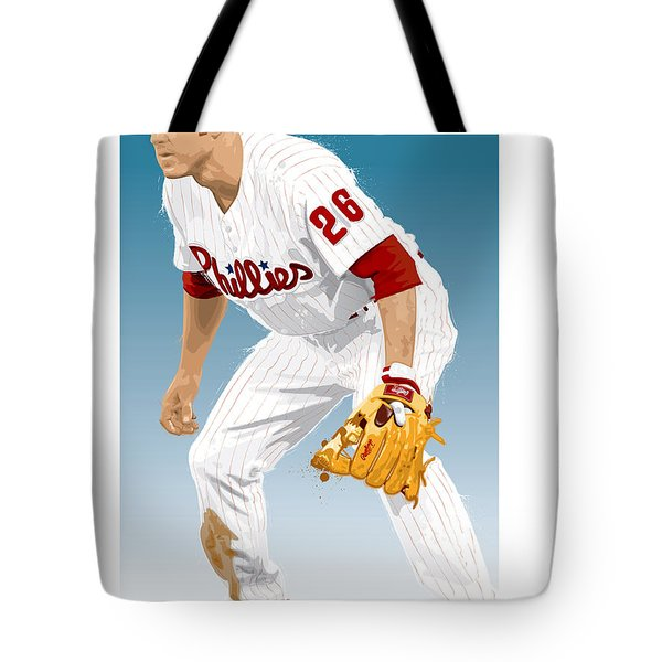 Utley In The Ready Tote Bag by Scott Weigner