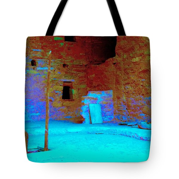 Vacancy At Spruce Tree House Tote Bag by Ann Johndro-Collins