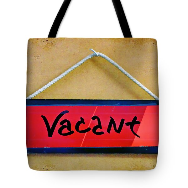 Vacant Tote Bag by Nikolyn McDonald