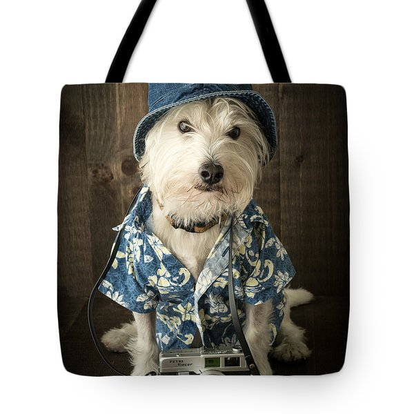 Vacation Dog Tote Bag by Edward Fielding