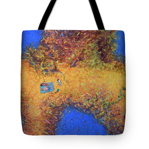Vacationing On A Painting Tote Bag by James W Johnson