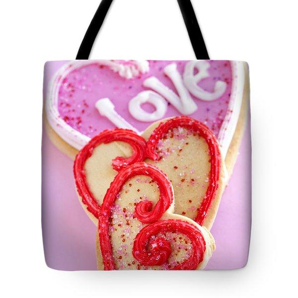 Valentine hearts Tote Bag by Elena Elisseeva