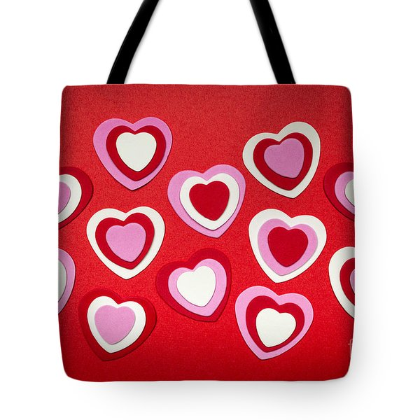 Valentines Day Hearts Tote Bag by Elena Elisseeva