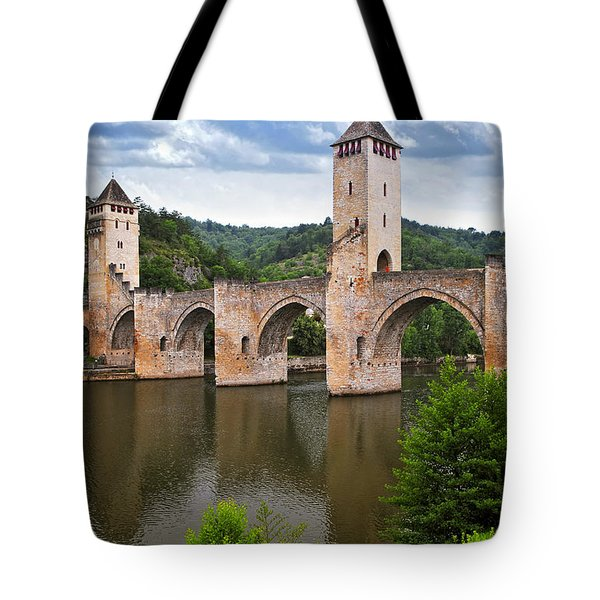 Valentre bridge in Cahors France Tote Bag by Elena Elisseeva