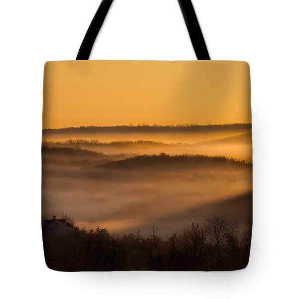 Valley Fog Tote Bag by Bill Wakeley