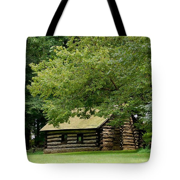 Valley Forge Cabin Tote Bag by Sherlyn Morefield Gregg