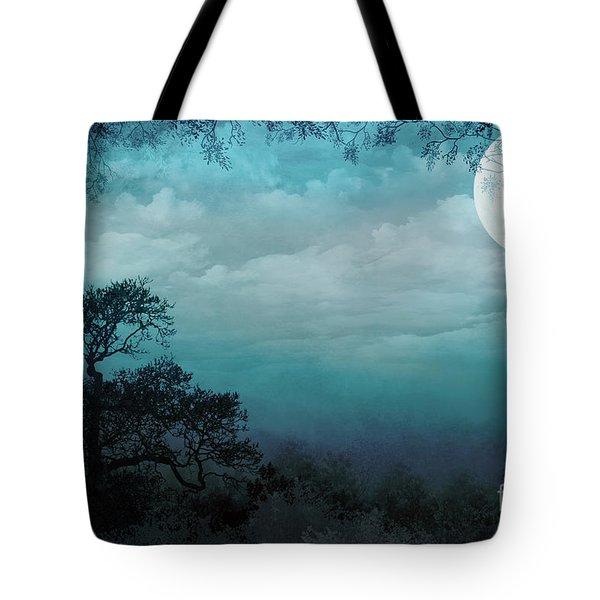 Valley Under Moonlight Tote Bag by Bedros Awak