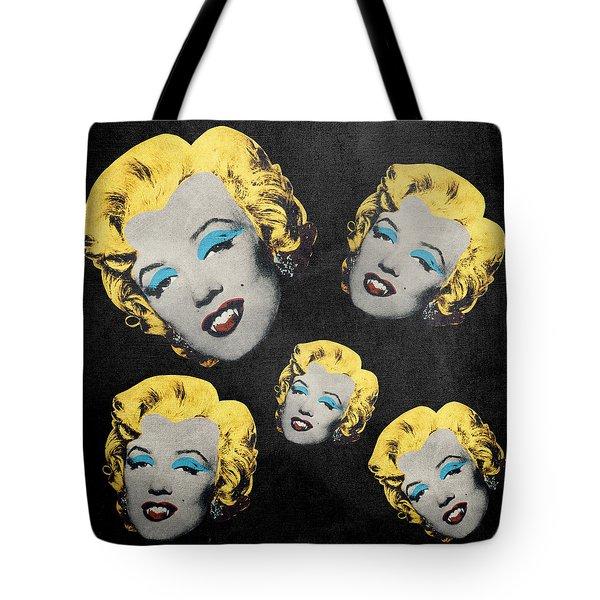 Vampire Marilyn 5 Tote Bag by Filippo B