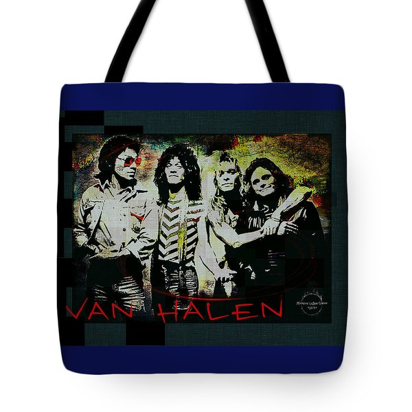 Van Halen - Ain't Talkin' 'bout Love Tote Bag by Absinthe Art By Michelle LeAnn Scott