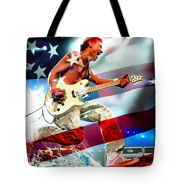 Van Halen Tote Bag by Marvin Blaine