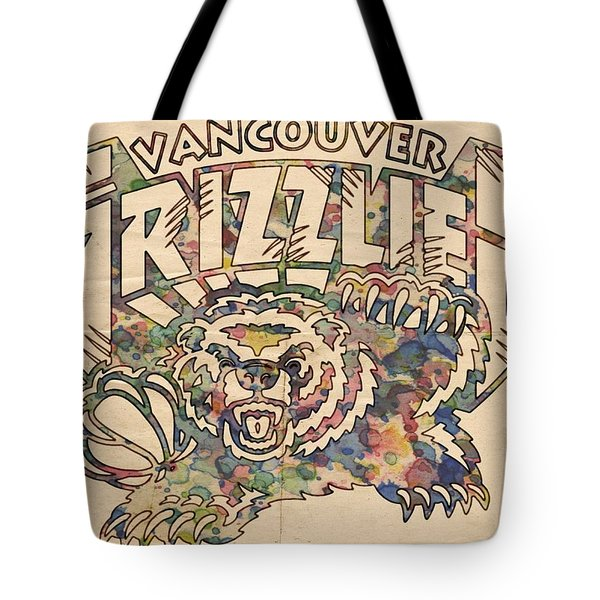 Vancouver Grizzlies Retro Poster Tote Bag by Florian Rodarte