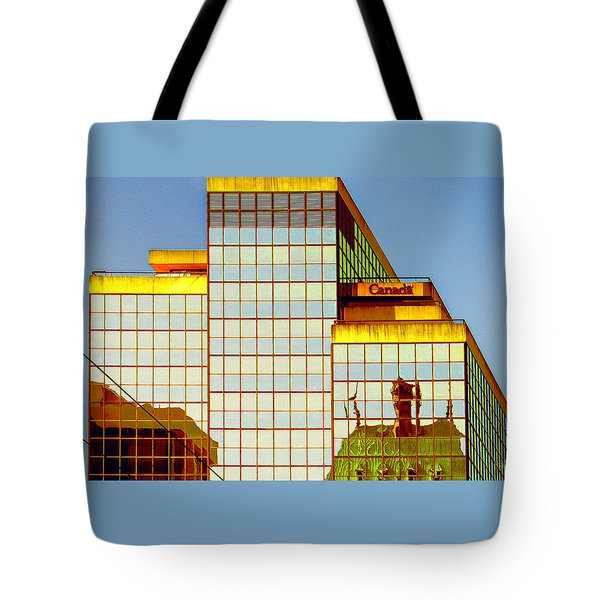 Vancouver Reflections No 2 Tote Bag by Ben and Raisa Gertsberg
