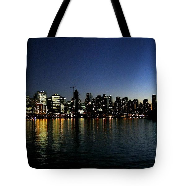 Vancouver Skyline Tote Bag by Will Borden