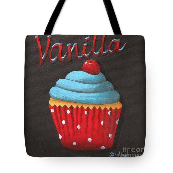 Vanilla Cupcake Tote Bag by Catherine Holman