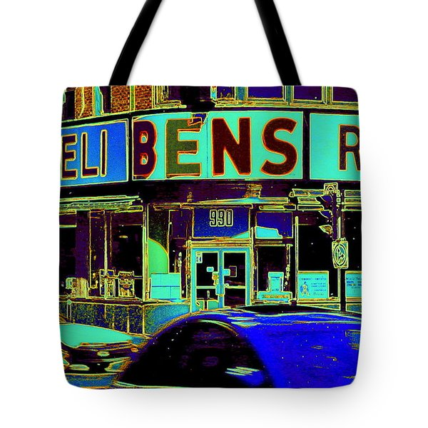 Vanishing Montreal Memories Ben's Historical Restaurant Window So Many Stories To Tell Tote Bag by Carole Spandau