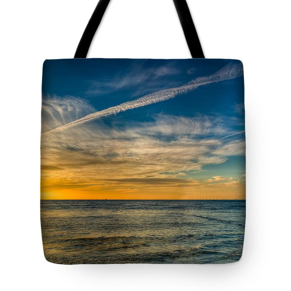 Vapor Trail Tote Bag by Adrian Evans