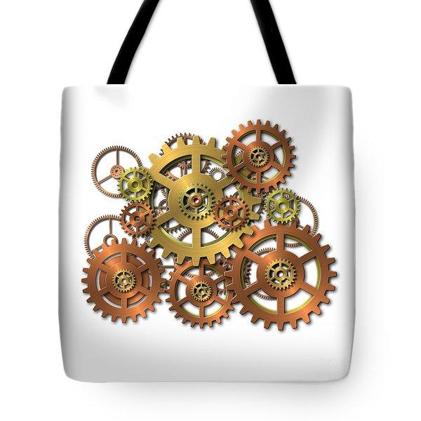 Various Gears Tote Bag by Michal Boubin