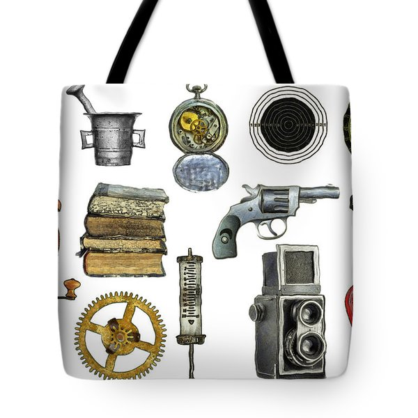 various object - signs - icons Tote Bag by Michal Boubin