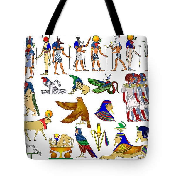 Various themes of ancient Egypt Tote Bag by Michal Boubin