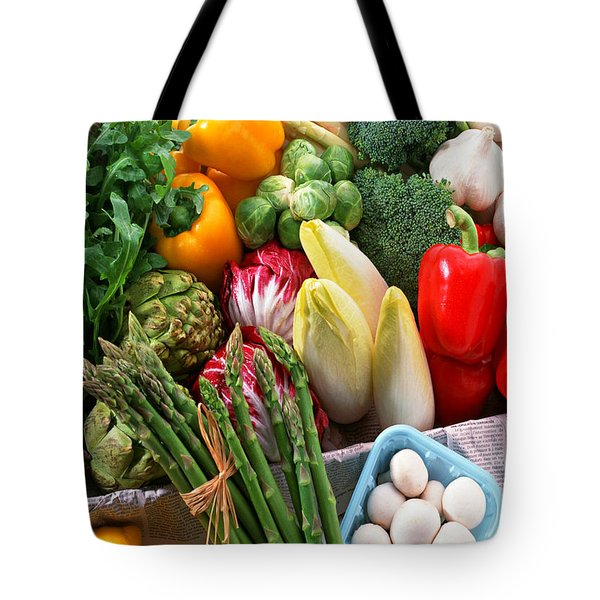 Various Vegetables Tote Bag by Lanjee Chee