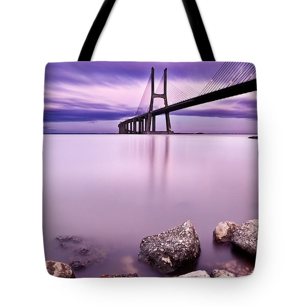 Vasco da Gama bridge Tote Bag by Jorge Maia