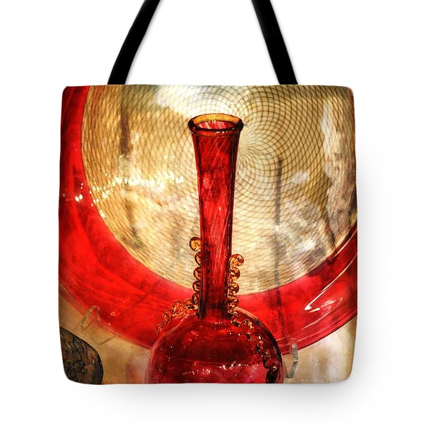 Vase And Tree Tote Bag by Marty Koch