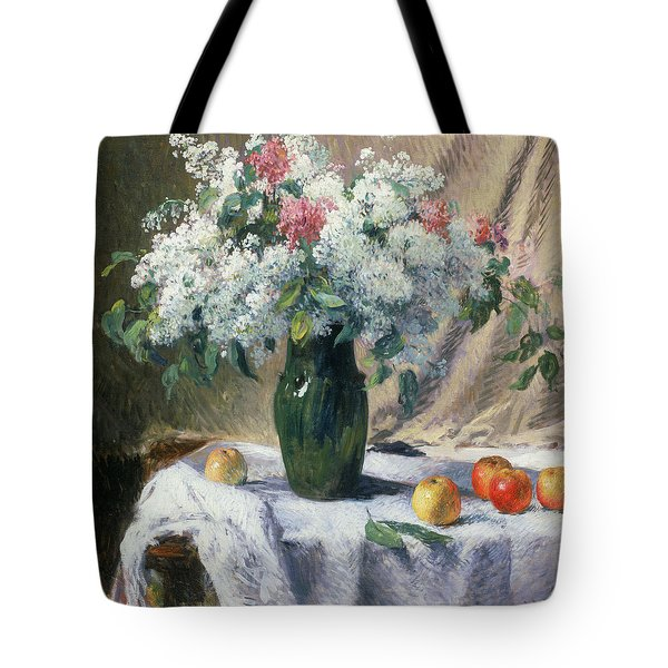 Vase Of Flowers Tote Bag by Henri Lerolle