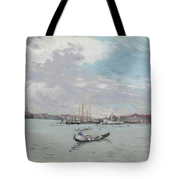 Vast Lagoon Outside Venice Circa 1901 Tote Bag by Aged Pixel
