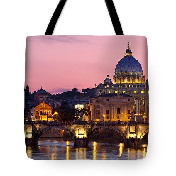 Vatican Twilight Tote Bag by Brian Jannsen