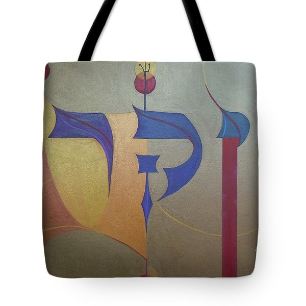Vayikrah...and He Called Tote Bag by Marlene Burns