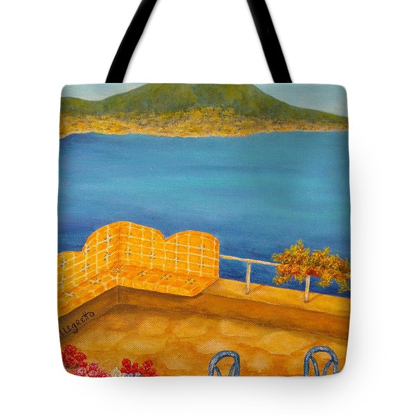 Veduta di Vesuvio Tote Bag by Pamela Allegretto
